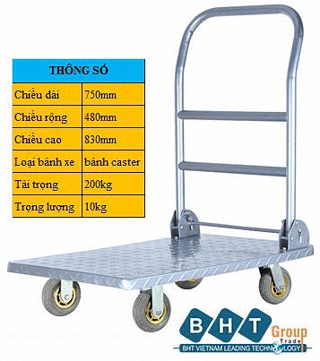 Xe đẩy 750x480x830mm-200kg Banh Caster