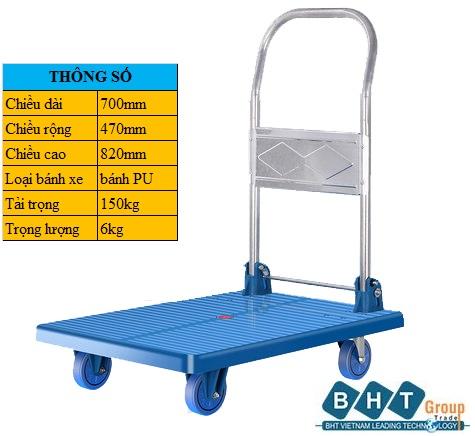 Xe đẩy Nhựa 700x470mm-100kg