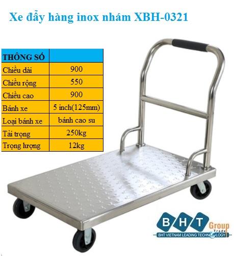 Xe đẩy Inox Nhám Xbh-0321.