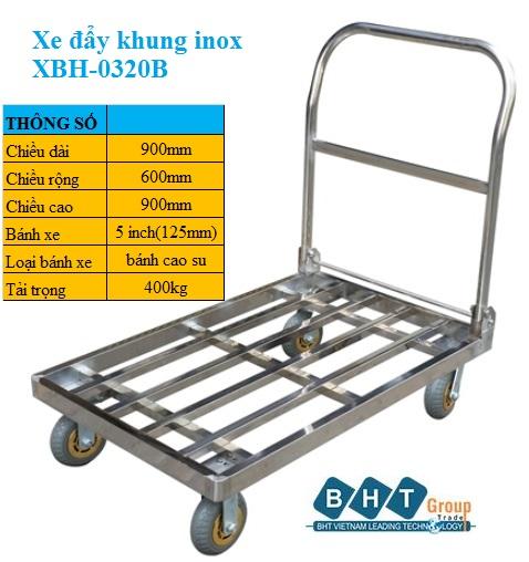Xe đẩy Khung Inox 900x600